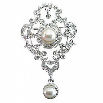 Pin Spilla nuziale stile antico vittoriano w / perle