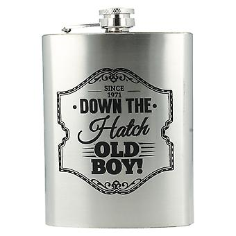 Lesser & Pavey Gentlemen's Stainless Steel Hip Flask LP33425