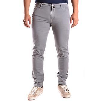 Pt01 Ezbc084025 Men's Grey Cotton Jeans