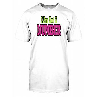 Nie jestem numer - spisek męskie T Shirt