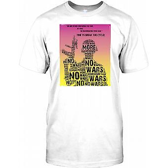 Ikke flere krige - Anti-krig plakat Design Kids T Shirt