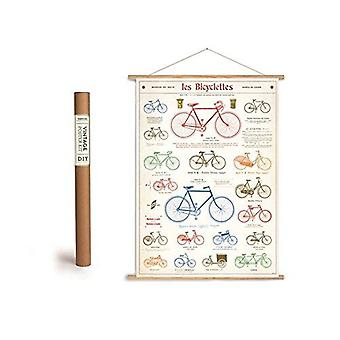 Cavallini Les Bicyclettes Luxury Wrapping Paper / Poster Bicycles Vintage