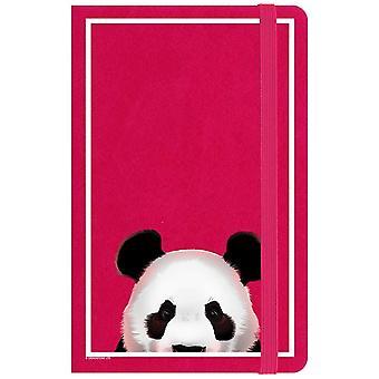 Inquisitive Creatures Peeking Panda Notebook