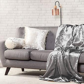 Changing Sofas 140cm x 200cm Soft Crushed Velvet Throw - Shark