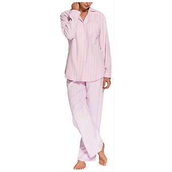 British Boxers Westwood Stripe Two Fold Flannel Pyjamas - Pink