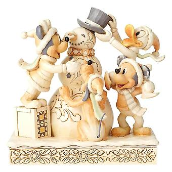 Disney Traditions White Woodland Mickey and Friends 'Frosty Friendship' Figurine