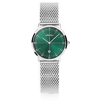 Michel Herbelin | Womens City | Silver Mesh Bracelet | Green Dial | 16915/16B Watch