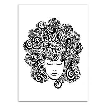 Art-Poster-volg je dromen-Valentina Harper 50 x 70 cm