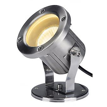 SLV Nautilus, Outdoor Floodlight, Qpar51, Stainless Steel, Max. 35W, Incl. 1.5M Cable