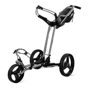 Zon Mountain Pathfinder 3 wiel push Golf trolley Cart Big cement grijs