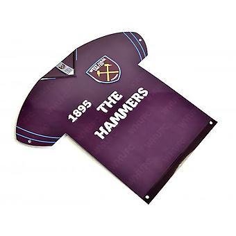 West Ham United FC metal skjorte skilt