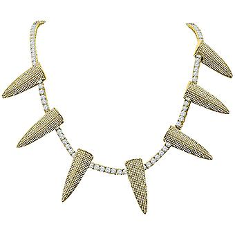 Iced Out Bling 4mm Cubic Zirconia 50cm Necklace - SPIKES or