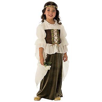 Woodland tyttö keiju piika Marion keskiaikainen Renaissane kirja viikko tyttöjen puku