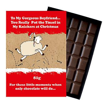 Funny Christmas Gift For Boyfriend Girlfriend Boxed Chocolate Xmas Present for Him or Her XMS118