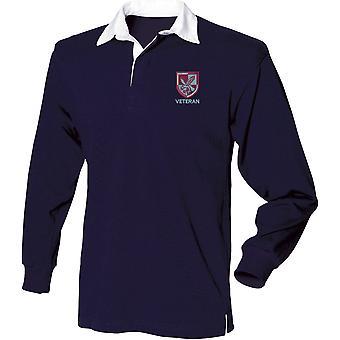 16 Air Assault Brigade veteran-lisensiert britiske hæren brodert langermet rugby skjorte
