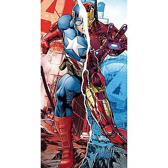 Marvel, beach Towel-Captain America/Iron Man