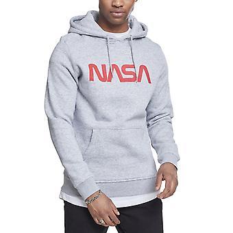 Mister tee hoody-NASA WORM logo Heather Grey
