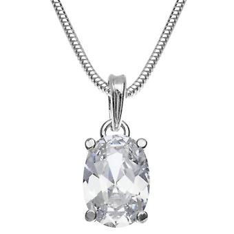 InCollections 241A201692340 - Chain with women's pendant with cubic zirconia - silver sterling 925 - 420 mm