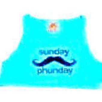 Team phun sunday phunday crop top blue