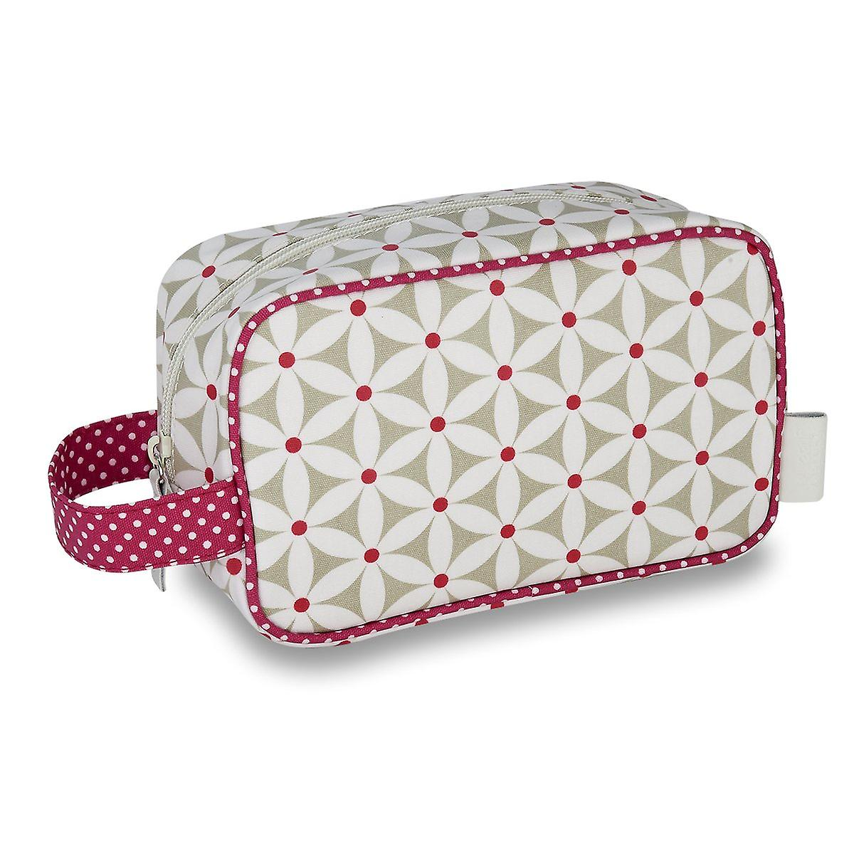 'starflower' cosmetic pouch - sage