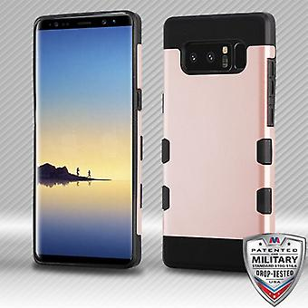 MYBAT Rose Gold/Black TUFF Trooper Hybrid Protector Cover for Galaxy Note 8