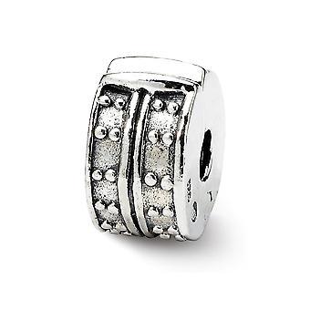 925 Sterling Silber Reflexionen Gepunktet gepunktet Clip Perle Anhänger Anhänger Halskette Schmuck Geschenke für Frauen