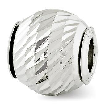 925 Sterling Silver Polerad finish Reflektioner Sparkle Cut Bead Charm Hängande Halsband Smycken Gåvor för kvinnor