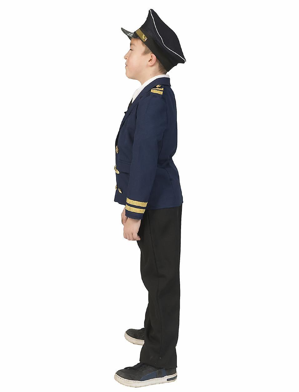 Fri Herren Kostüm Pilot Jacke Karneval Fasching