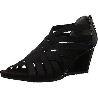 Bandolino Women's GILLMIRO Wedge Sandal Black 6.5 M US