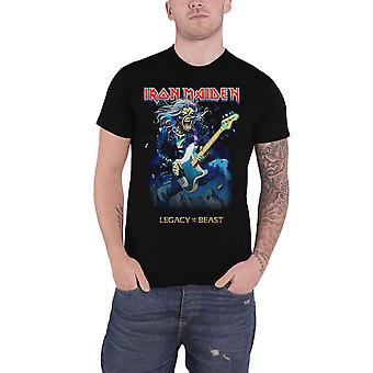 Iron Maiden T Shirt Legacy of The Beast Eddie On Bass new Official Mens Black