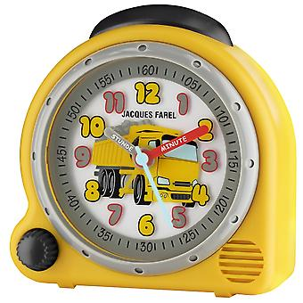 JACQUES FAREL Children's Alarm Clock Alarm Clock Analog Quartz Truck Boys AVC 07DUMP Wake-Up Sound