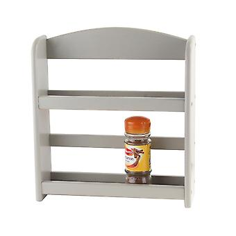 Apollo 2 Tier Grey Wooden Spice Rack