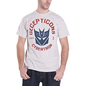 Transformers T Shirt Decepticon Cybertron Logo new Official Mens Grey