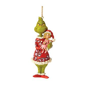 Dr. Seuss The Grinch Holding Cindy Lou Hanging Ornament