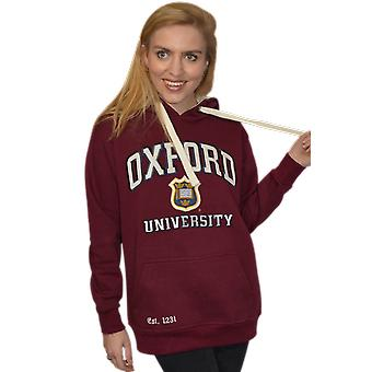 Ou129 licensed unisex oxford university™ hooded sweatshirt maroon