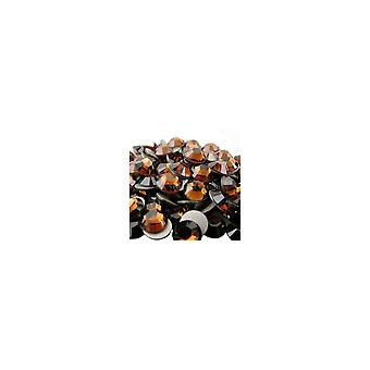 Jessica Swarovski Crystals Flat Back Gems Pack Of 200 - Topaz fumé