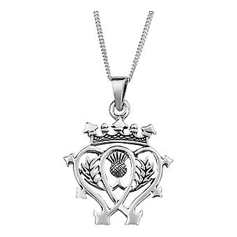 "Scottish Luckenbooth amore e fedeltà collana ciondolo - Include 22"" catena"