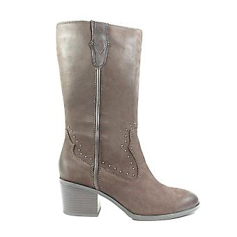 Caprice 25361 Brown Nubuck Leather Womens Heeled Long Leg Boots