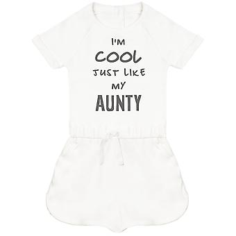 I'm Cool Just Like My Aunty Baby Playsuit