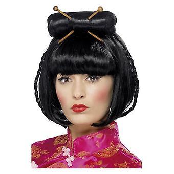 Akcesoria damskie Lady orientalnej perukę Fancy Dress