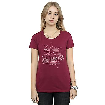 Star Wars Women's Death Star Sleigh T-Shirt