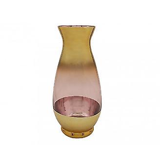 Vaso metálico cor-de-rosa e dourado bom para a decoração home