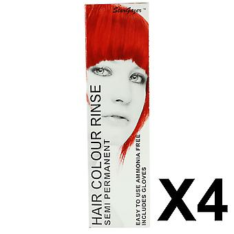 Semi-Permanent Hair Dye von Stargazer - Foxy Red x 4 Packs