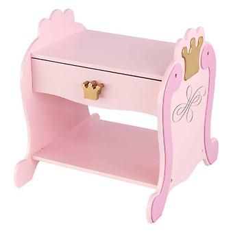 KidKraft Princess-style wooden bedside table