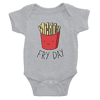 365 Printing Fry Day Baby Bodysuit Gift Grey Funny Baby Jumpsuit Baby Gift