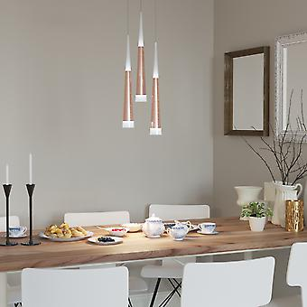 Comet 3 Mini Pendant Lighting Nickel - LED Hanging Light Fixture