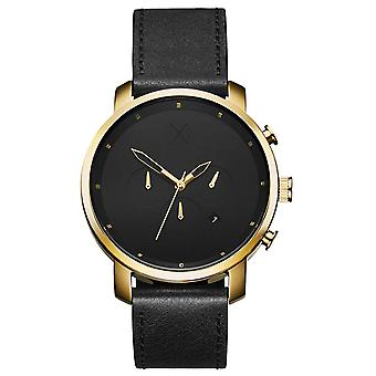 MVMT D-MC01GL Watch - Dor Cadran Black Black Leather Watch