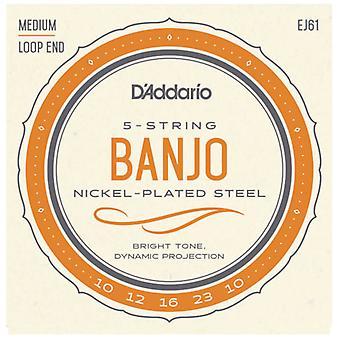 D'Addario 5-String Banjo Nickel Set Med