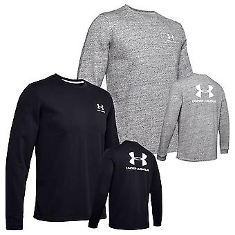 Under Armour Mens 2020 Sportstyle Terry Logo Crew Neck Hydrage Wicking T-Shirt