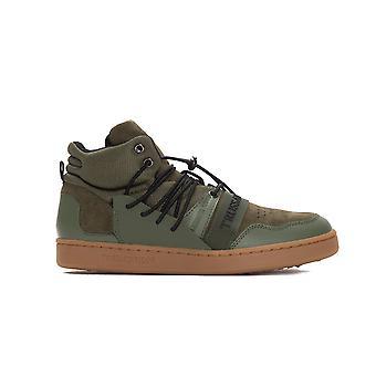 Men's Trussardi Military Green Sneakers